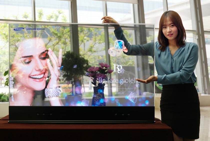 Samsung-ი გამჭირვალე OLED ეკრანების გამოშვებას დაიწყებს
